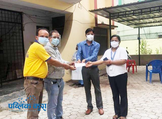 भीम अस्पताललाई ज्योति विकास बैंकको सहयोग