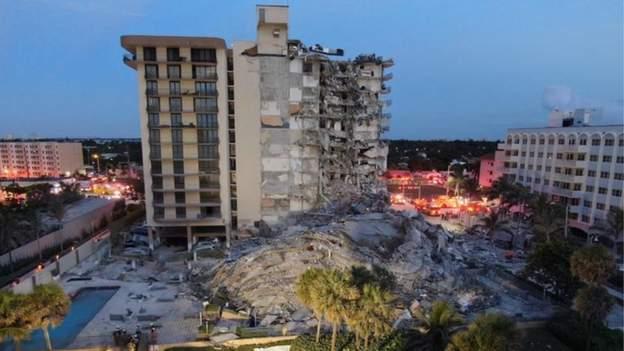 अमेरिकामा १२ तले भवन भत्कियो, ठूलो मानवीय क्षतिको अनुमान