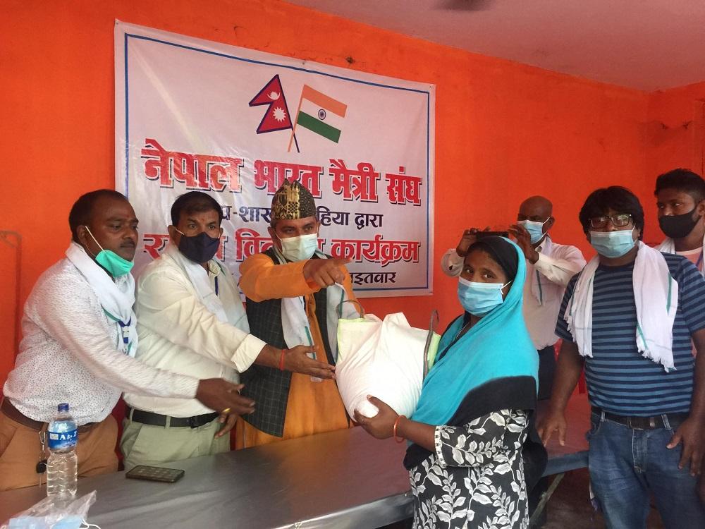 नेपाल–भारत मैत्री संघद्वारा राहत वितरण