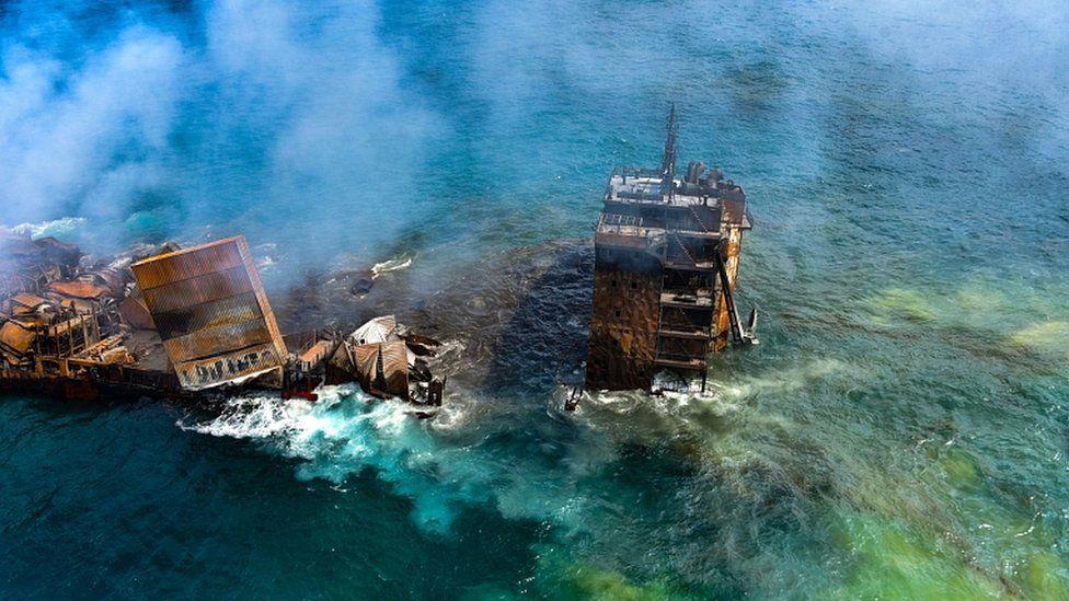 समुद्रमा इन्धनसहितको पानी जहाज डुब्यो, वातावरणीय विपदको जोखिम