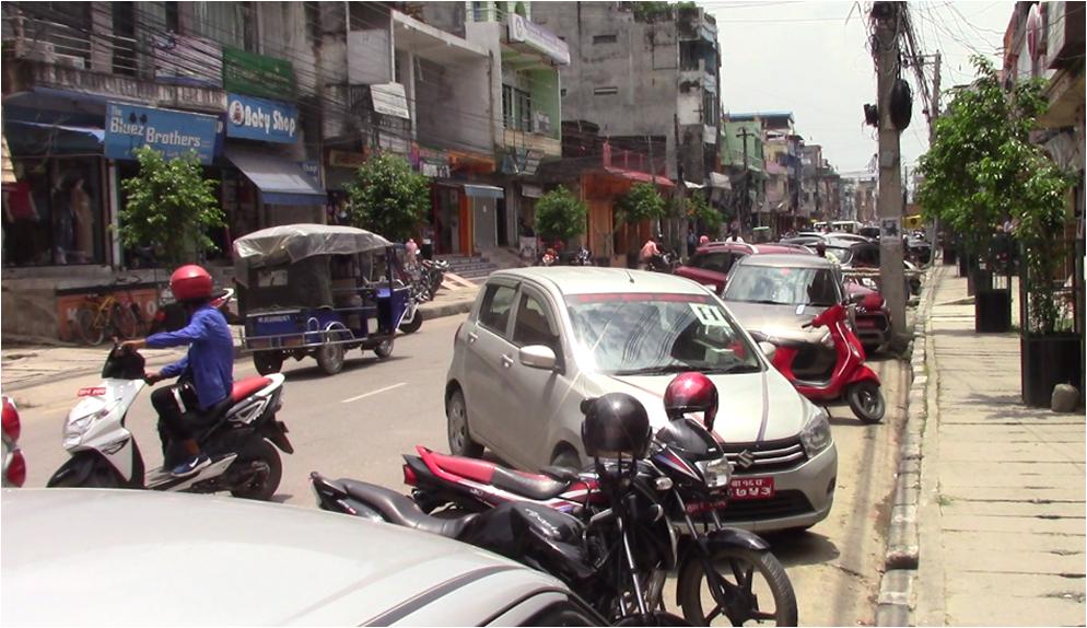 भैरहवामा पार्किङ समस्या, स्थानीय सरकारसँग छैन दीर्घकालीन योजना