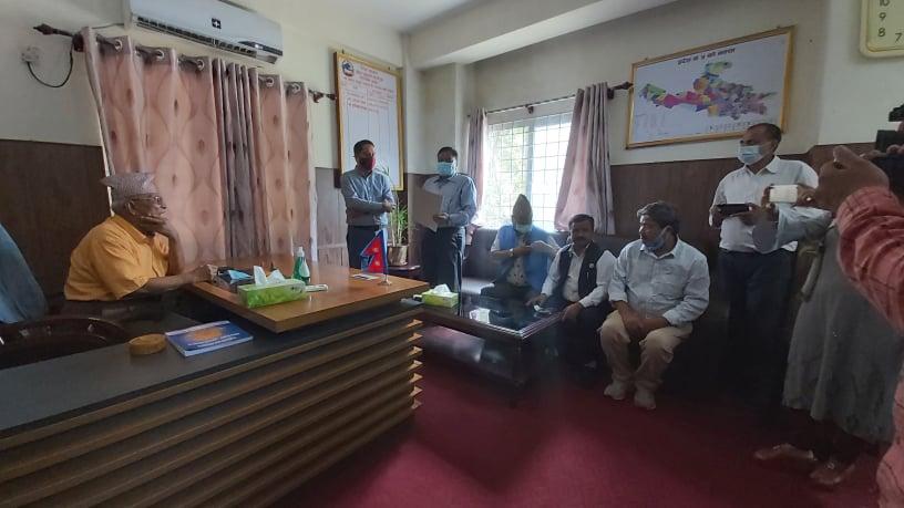 लुम्बिनीमा विपक्षी गठबन्धनको समावेदन