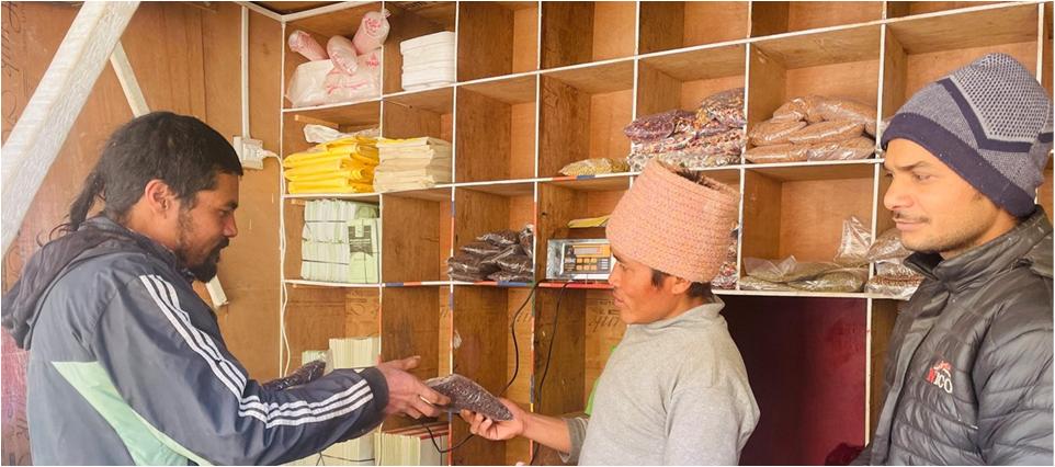 व्यवस्थित भवनबाट कृषि उपज विक्री