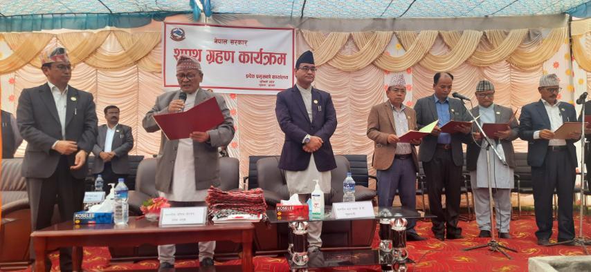 लुम्बिनीमा मन्त्रिपरिषद् विस्तार, नवनियुक्त मन्त्रीले लिए सपथ